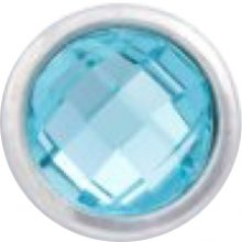 Aquamarine Classic Solitaire Dot